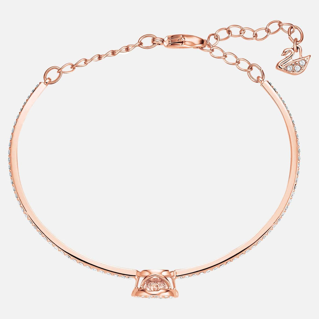 Swarovski Jewelry Sparkling Dance Bangle White Rose Gold Tone Plated 5497483