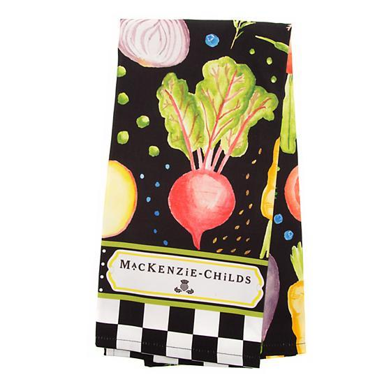 Mackenzie Childs Radish & Root Dish Towel 70110-119