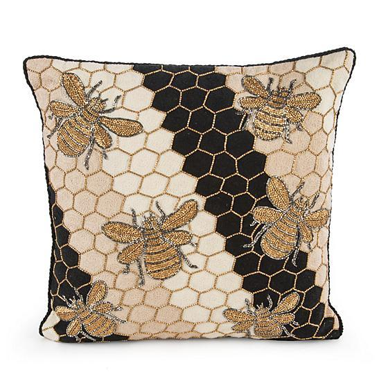 Mackenzie Childs Beekeeper Pillow 75759-0038