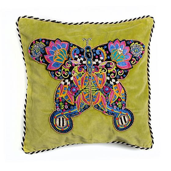 Mackenzie Childs Fantasia Butterfly Pillow 75759-026