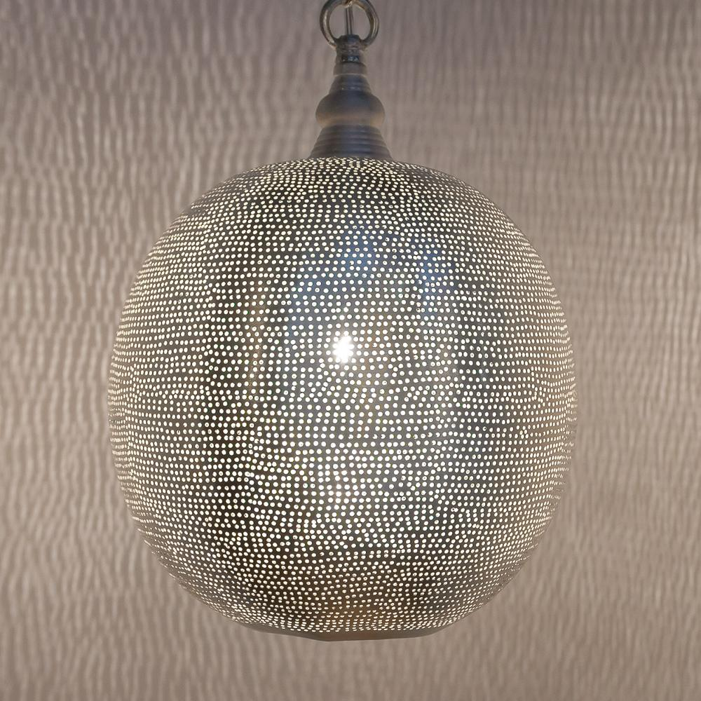 Zenza Ball Filisky Medium Nickel Pendant Light AM02104S