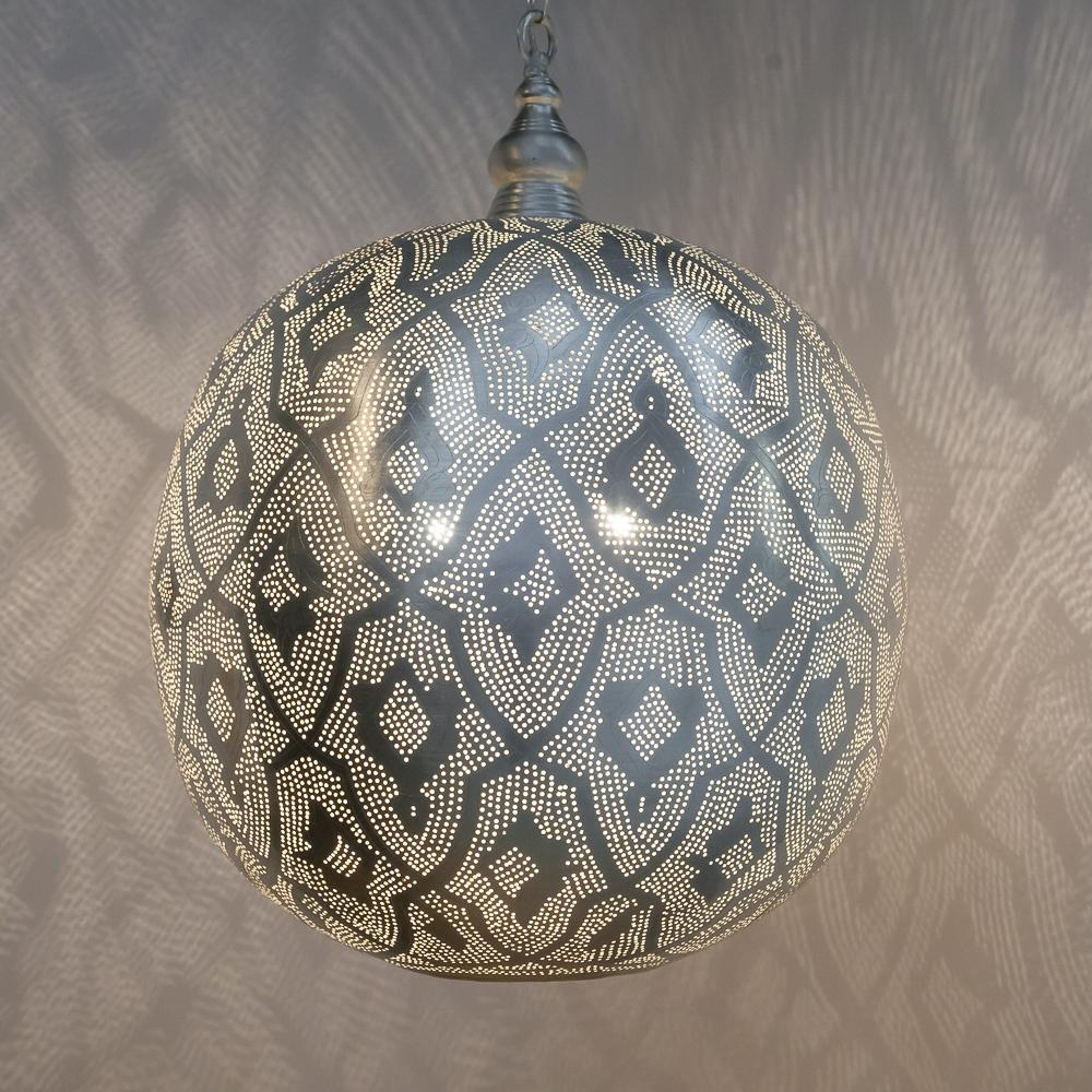 Zenza Ball Filigrain XXL Nickel Pendant Light AS0296SHL