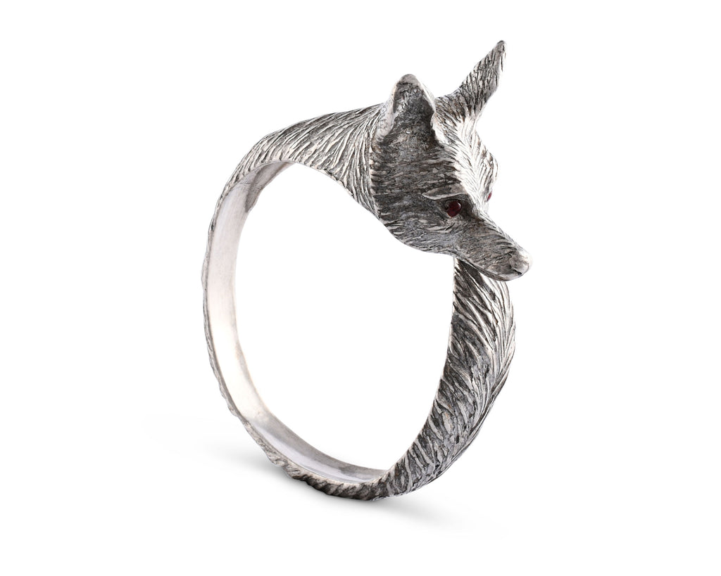 Vagabond House Morning Hunt Pewter Fox Napkin Ring B115O-1