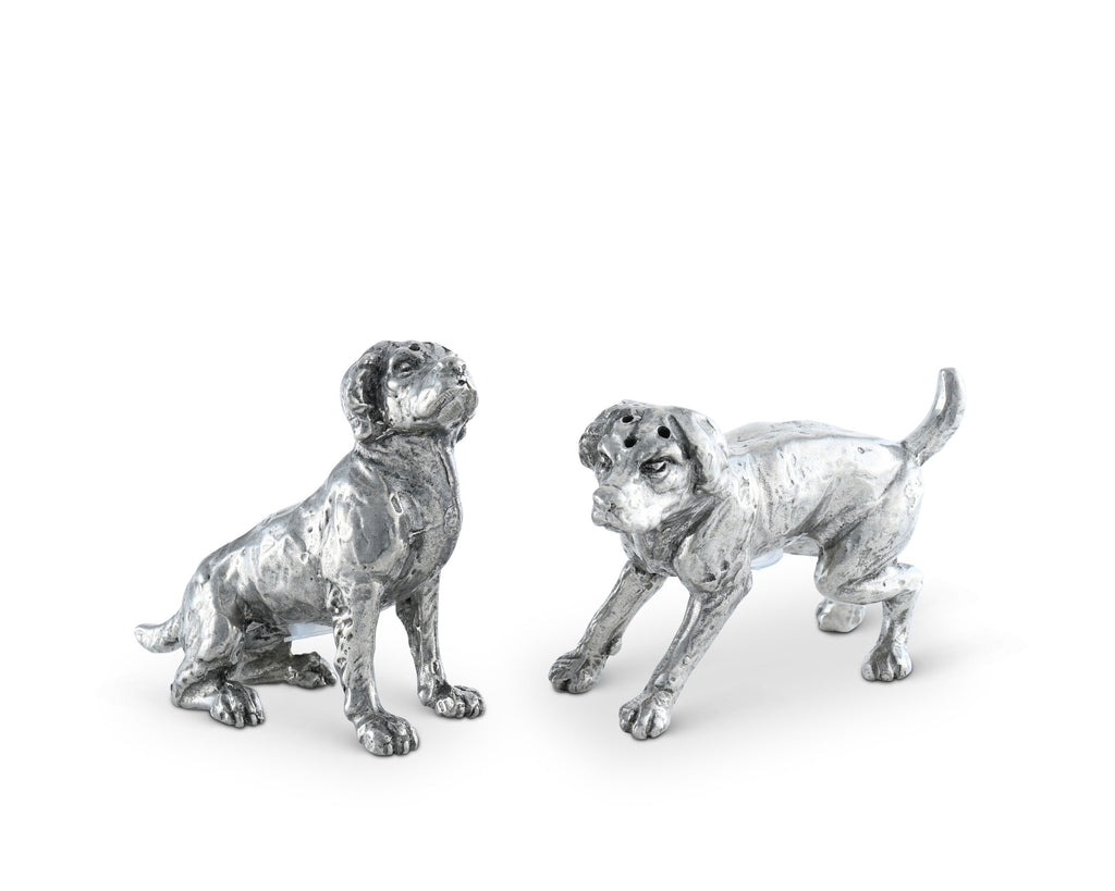 Vagabond House Morning Hunt Pewter Spaniel Salt & Pepper Set B116B
