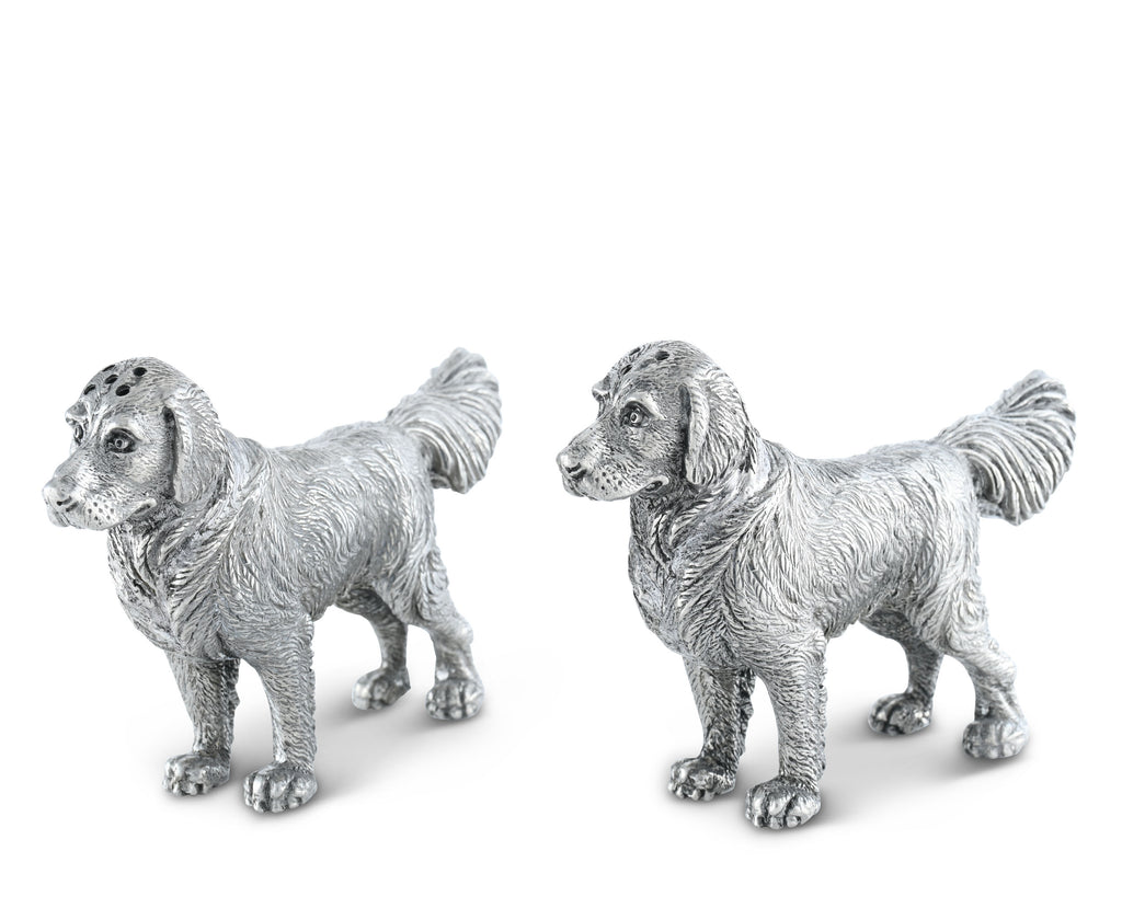 Vagabond House Morning Hunt Pewter Retriever Salt and Pepper B116GR
