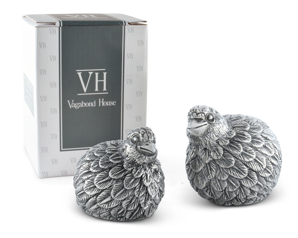 Vagabond House Morning Hunt Quail Salt and Pepper B116Q