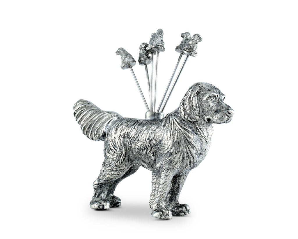 Vagabond House Morning Hunt Pewter Retriever Cheese Picks B883GR