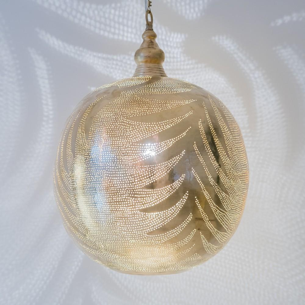 Zenza Ball Leaf XL Gold Pendant Light BALLEXLGOHL