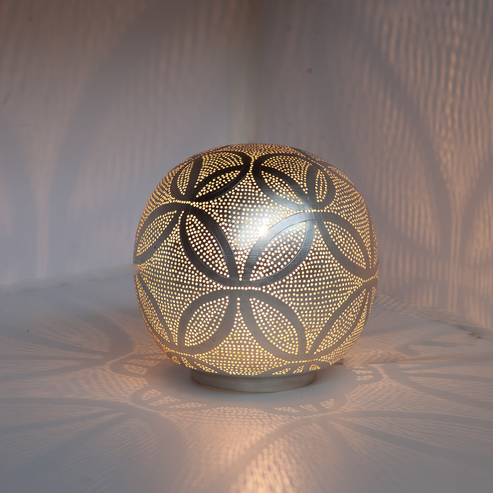 Zenza Table Lamp Ball Circles Small Nickel Table Light BALSCIRTL