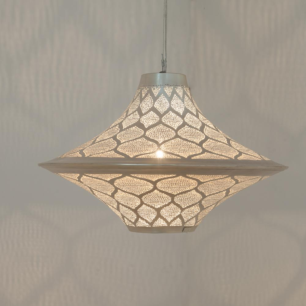 Zenza Batta Moorish Large Nickel Pendant Light BATLMOOHL