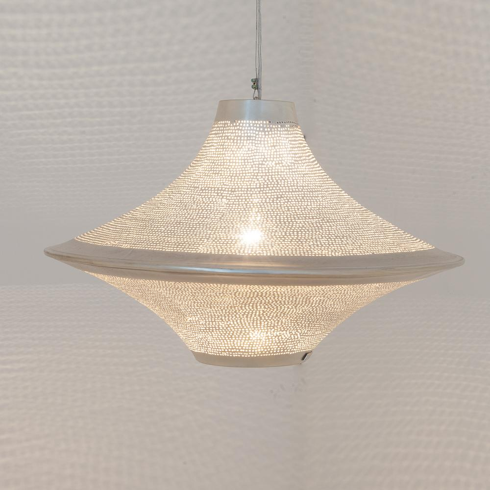 Zenza Batta Filisky Large Nickel Pendant Light BATLSKYHL