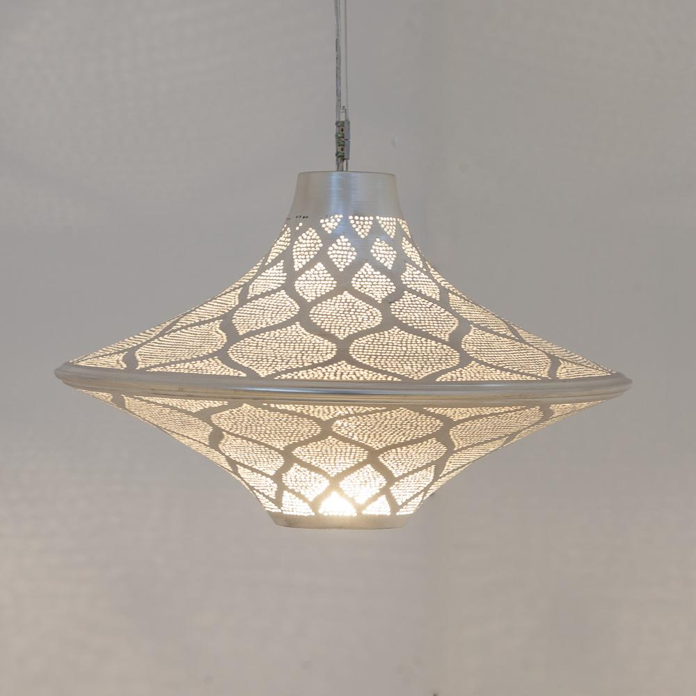Zenza Batta Moorish Small Nickel Pendant Light BATSMOOHL