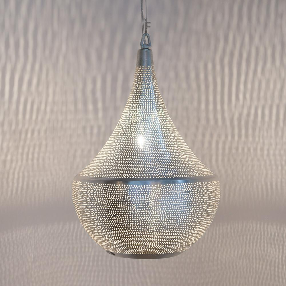 Zenza Bella Filisky Medium Nickel Pendant Light BELFMEHL