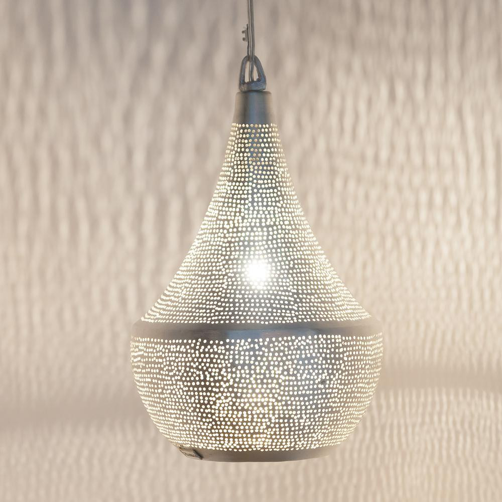 Zenza Bella Filisky Small Nickel Pendant Light BELFSMHL