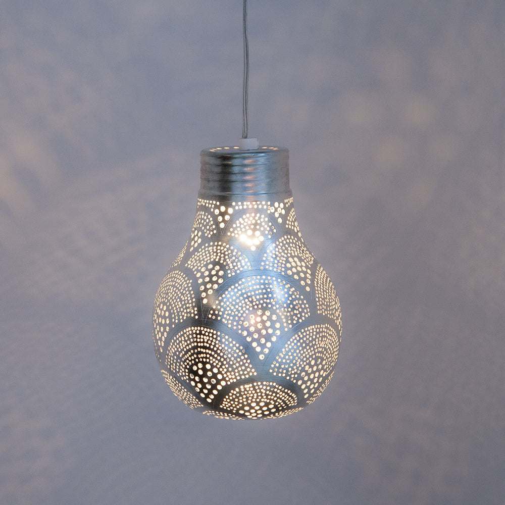 Zenza Big Pear Fan Nickel Pendant Light BPFNHL