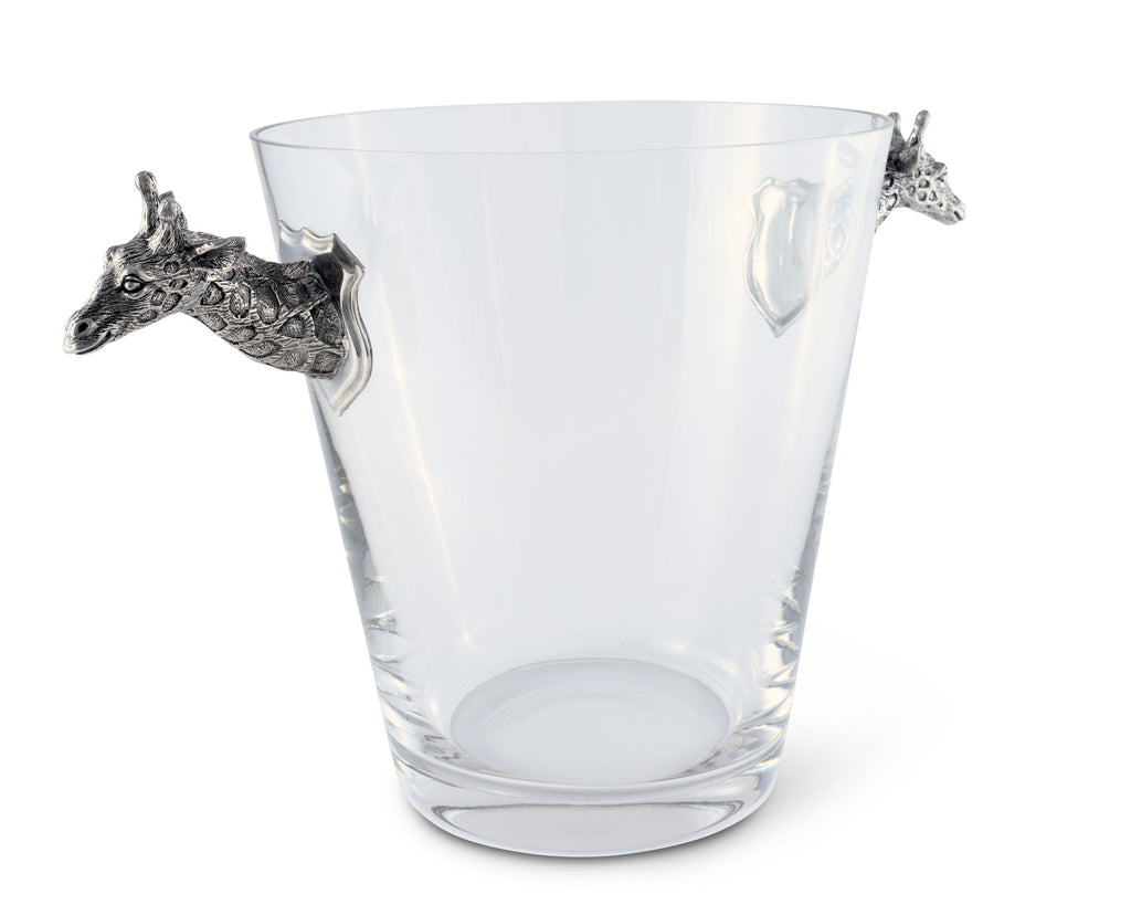 Vagabond House Safari Glass Ice Bucket Giraffe Handles C103G
