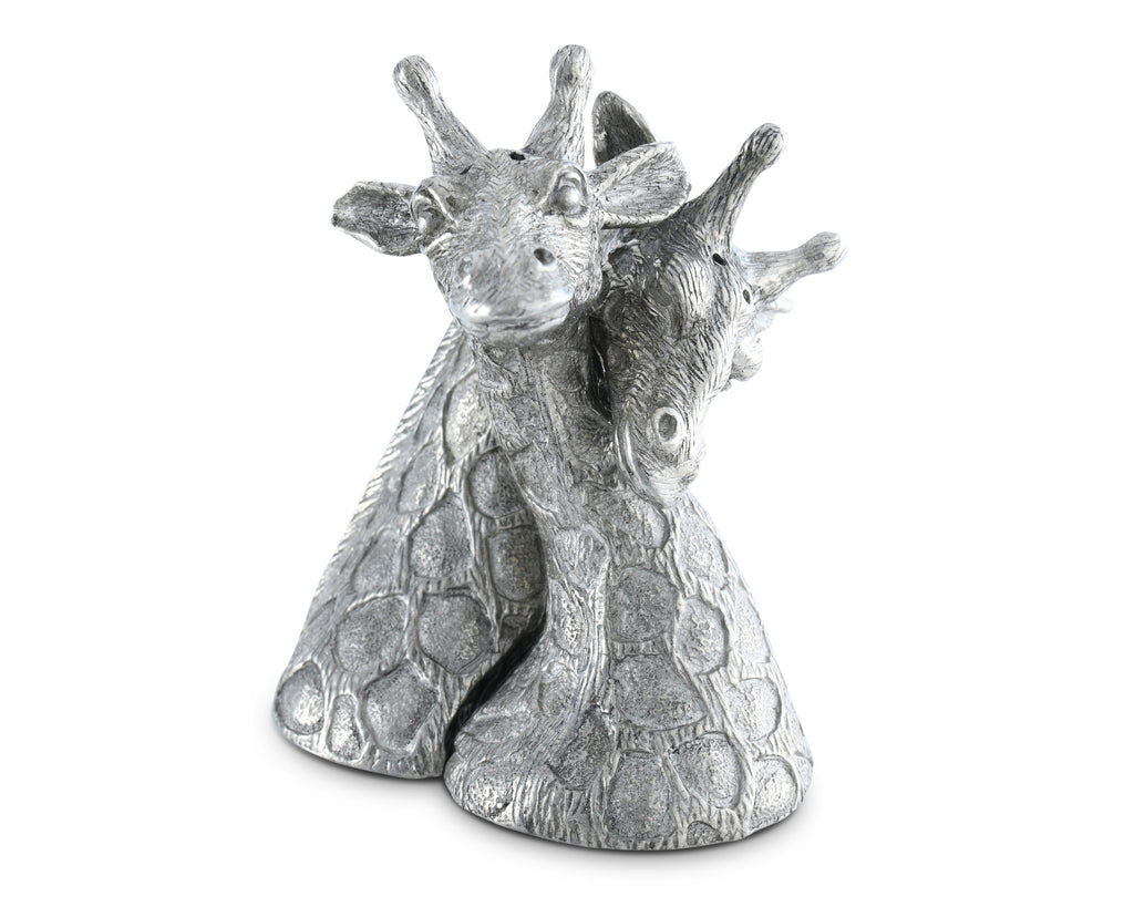 Vagabond House Safari Pewter Giraffes Salt & Pepper Set C116G