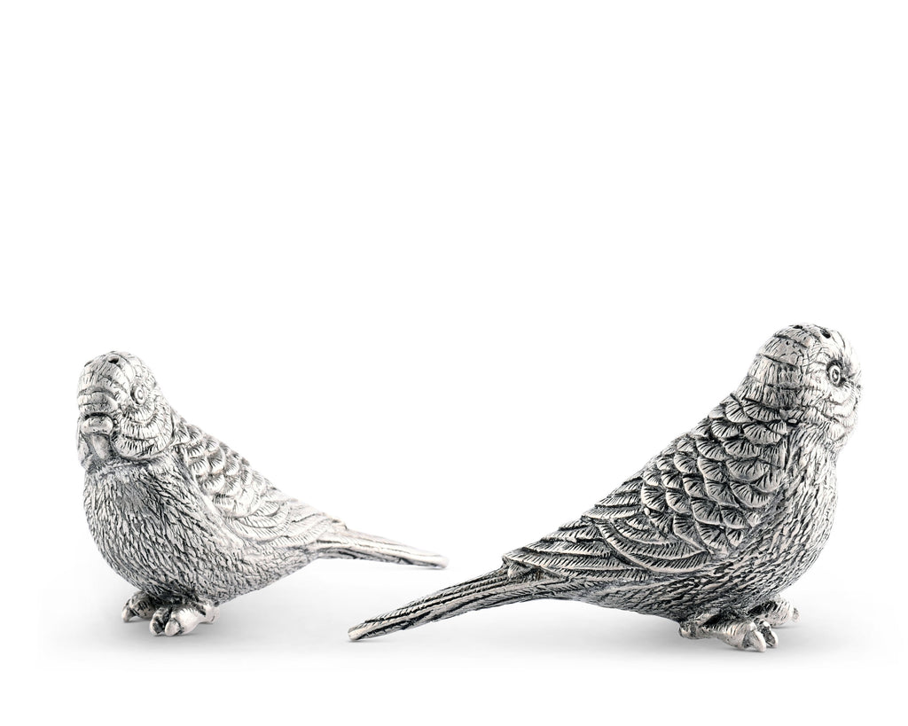 Vagabond House Tropical Tales Pewter Macaws Salt & Pepper Set C116M