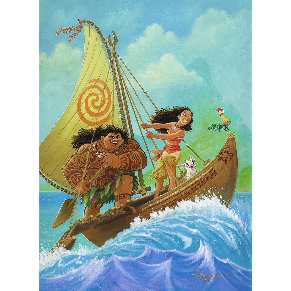 Disney Fine Art - Moana Knows the Way