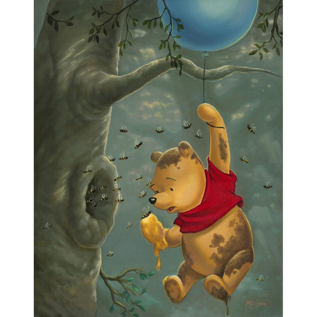 Disney Fine Art - Pooh's Sticky Situation
