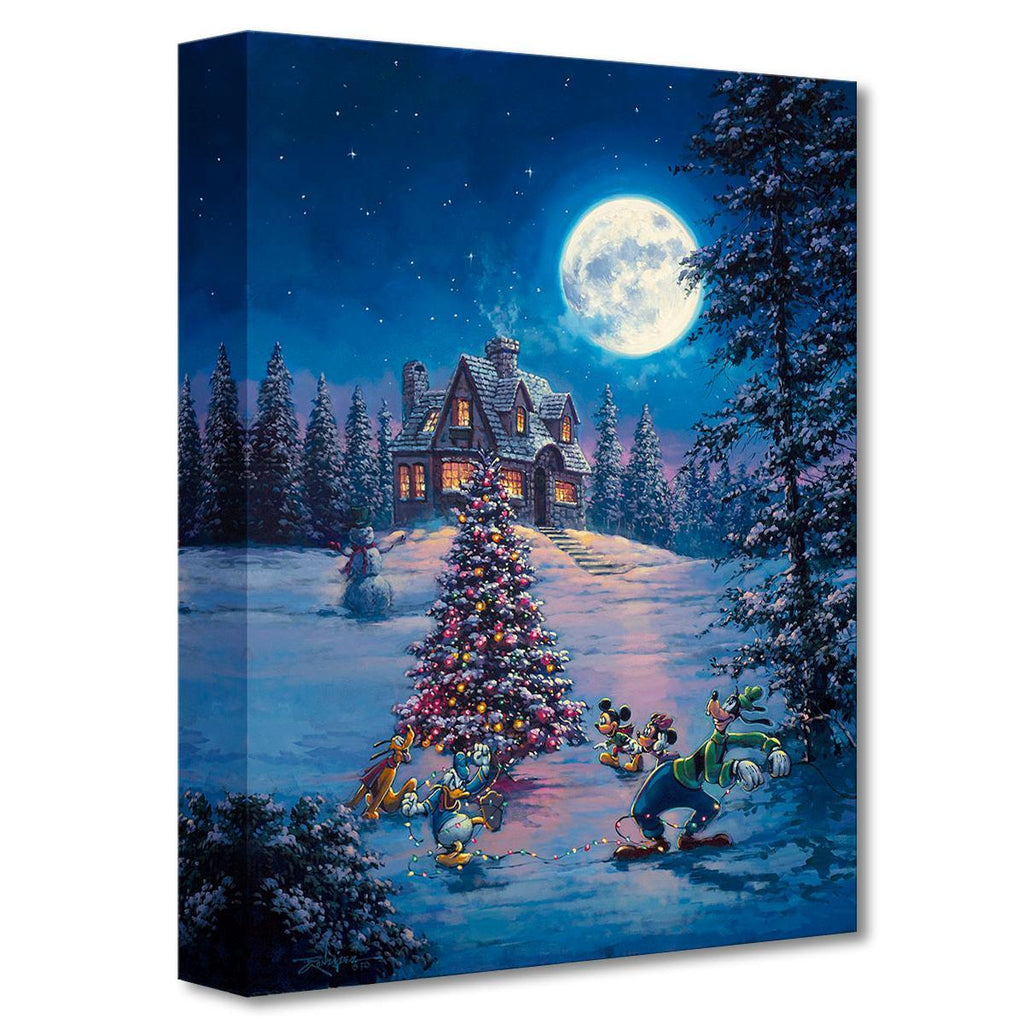 Disney Fine Art - Winter Lights Treasures On Canvas