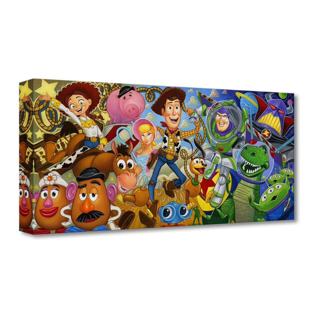 Disney Fine Art - Cast of Toyss Treasures On Canvas