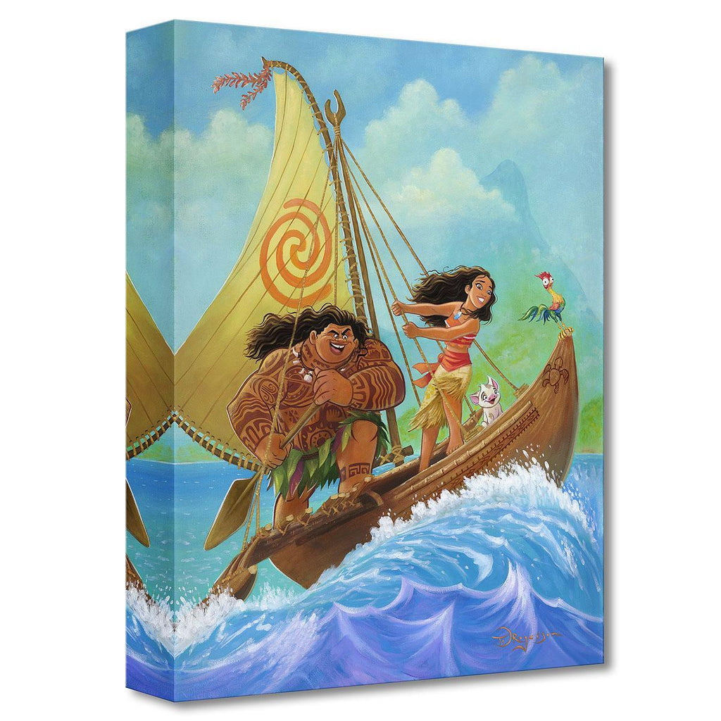 Disney Fine Art - Moana Knows the Ways Treasures On Canvas