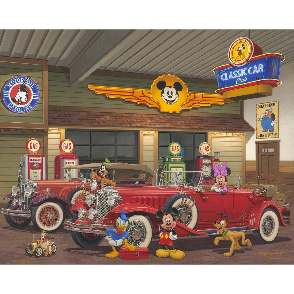 Disney Fine Art - Mickey's Classic Car Club