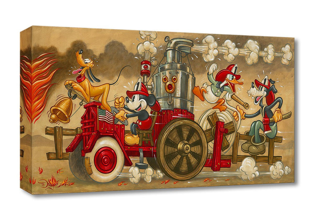 Disney Fine Art - Mickey's Fire Brigade