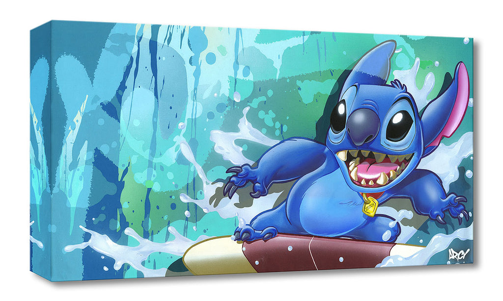 Disney Fine Art - Surf Rider Stitch - Treasures On Canvas