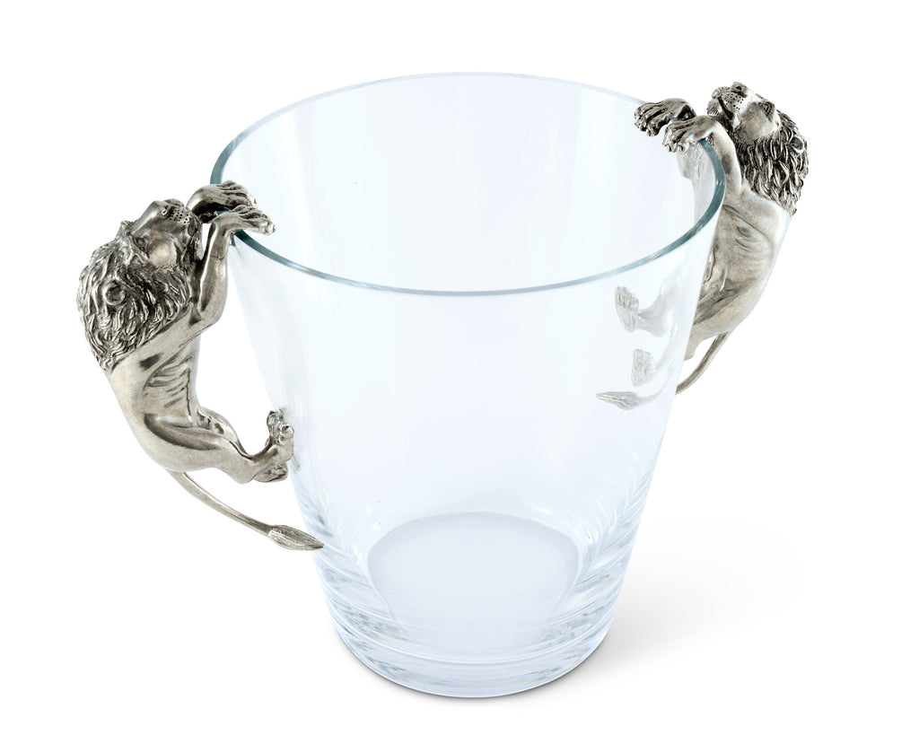 Vagabond House Safari Glass Ice Bucket Lion Handles E126