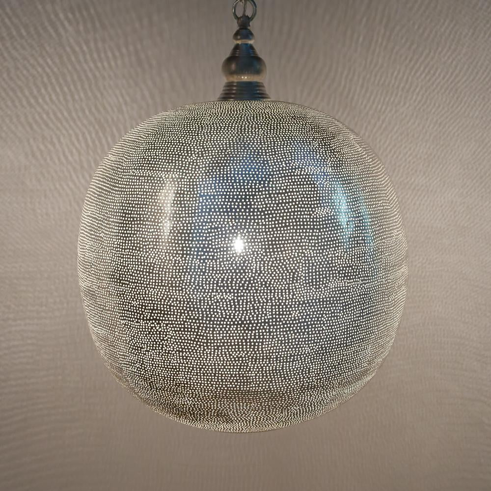 Zenza Ball Filisky XXL Nickel Pendant Light FSXXL01S