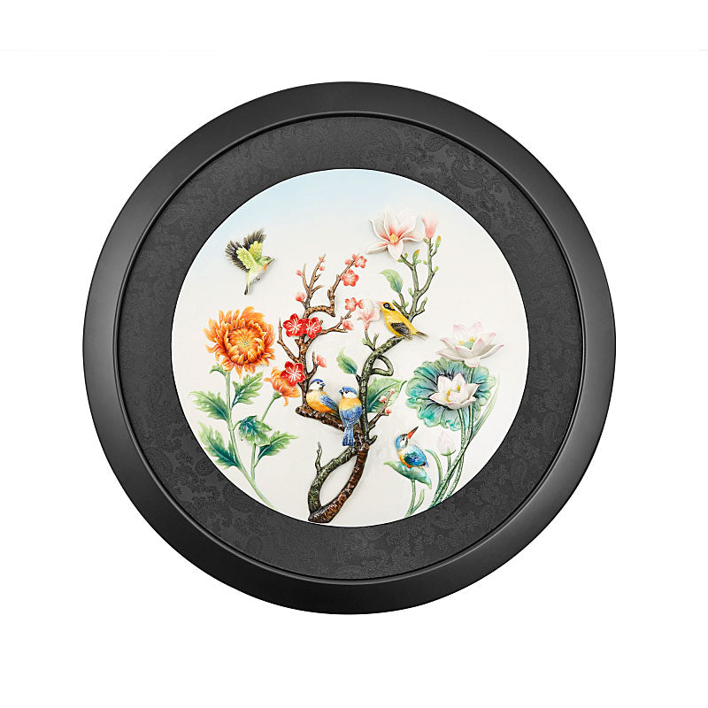 Franz Collection Peace of the Four Seasons Porcelain Wall Décor (LE 288) FZ03829