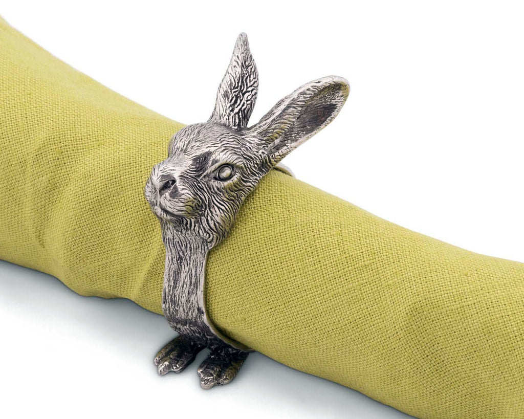 Vagabond House Garden Friends Rabbit Napkin Rings G115RT-1