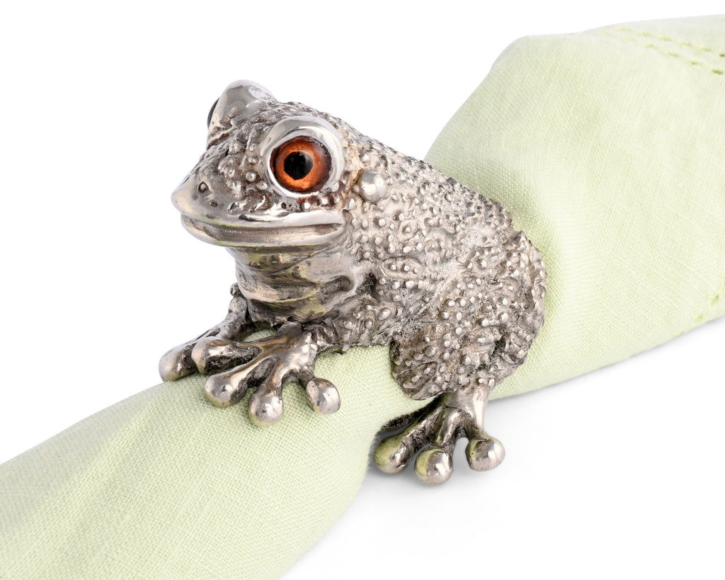 Vagabond House Garden Friends Toad Napkin Ring G115TD-1