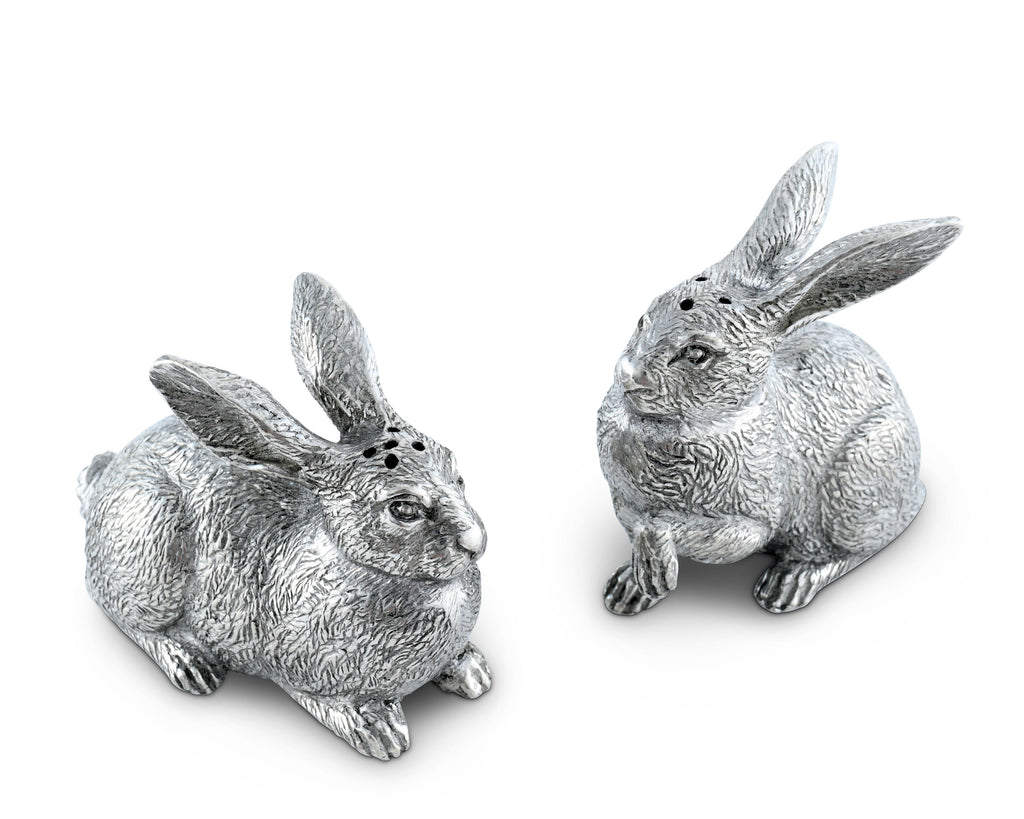 Vagabond House Morning Hunt Wild Hare Salt and Pepper Set G116WH