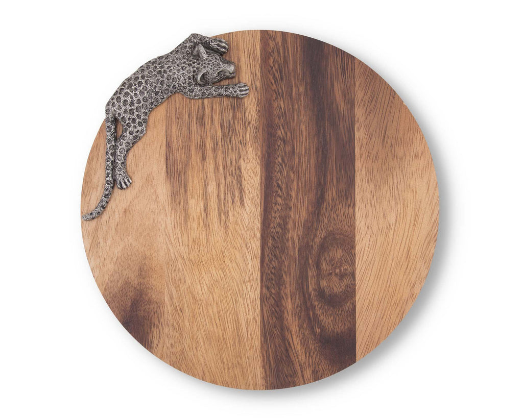 Vagabond House Safari Leopard Cheese Board G251LD