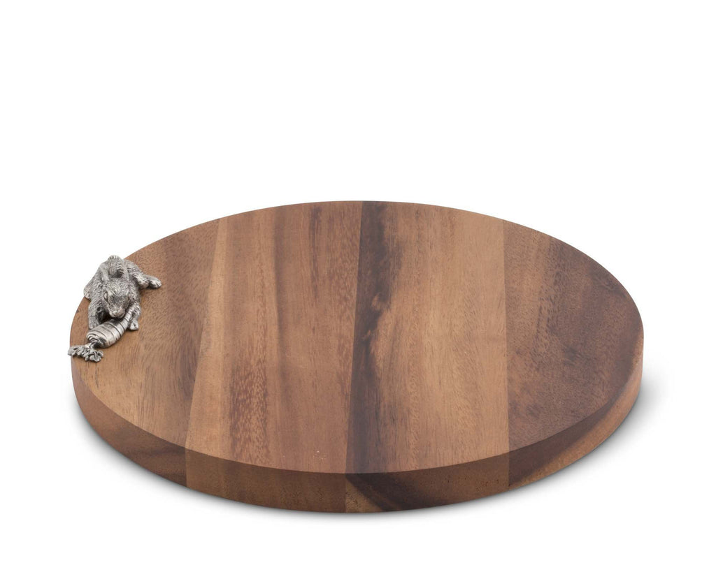 Vagabond House Garden Friends Rabbit Cheese Board G251RT