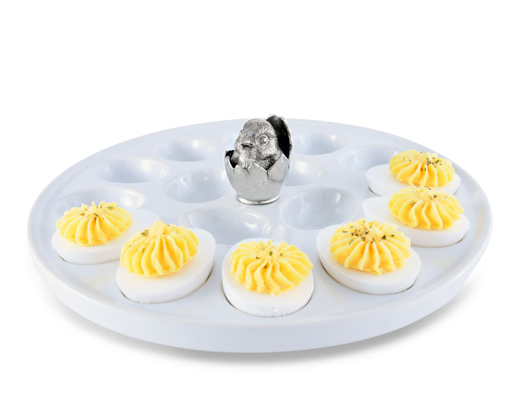 Vagabond House Garden Friends Little Chick Deviled Egg Holder G303LC