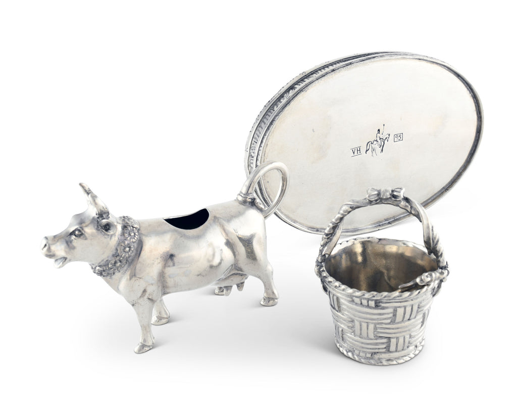 Vagabond House Garden Friends Mabel Cow Creamer Set G317M