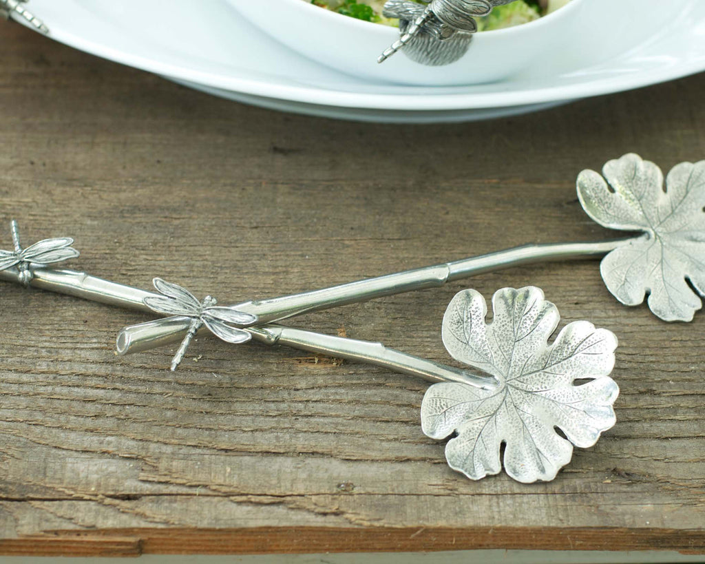 Vagabond House Garden Friends Dragonfly Salad Serving Set G33D