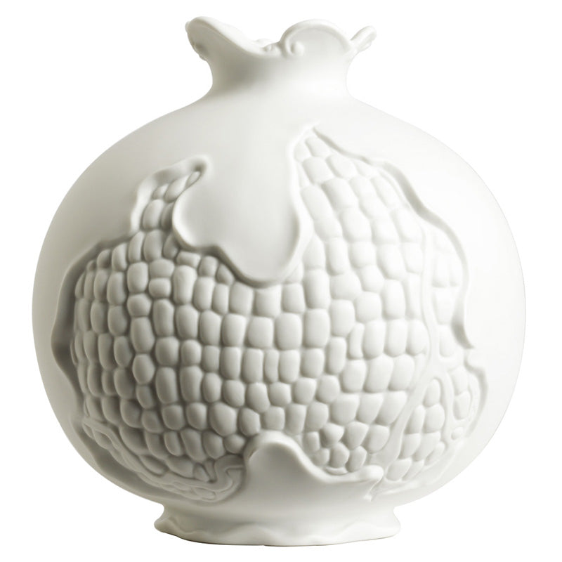 Jean Boggio Pomegranate Small White Vase JB00689W