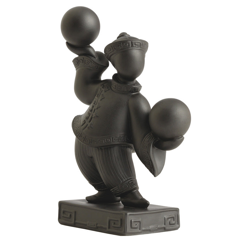 Jean Boggio Bei Boy & Ball Black Figurine JB00705B