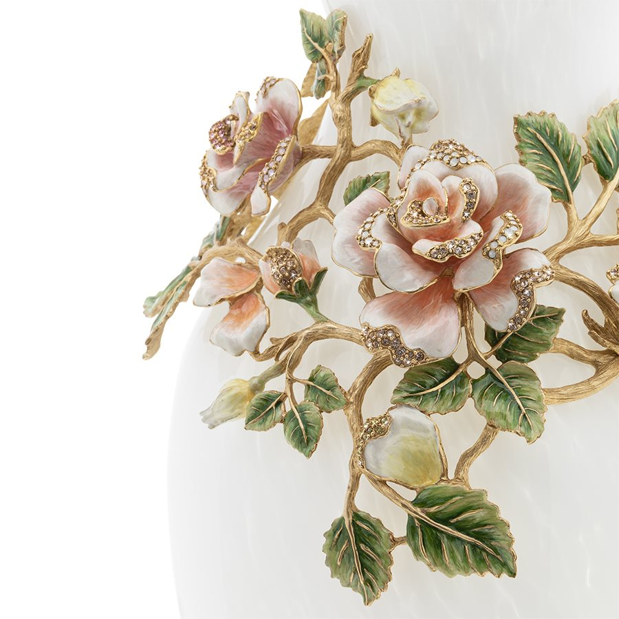 Jay Strongwater Gabrielle Rose Grand Vase SDH2522-258