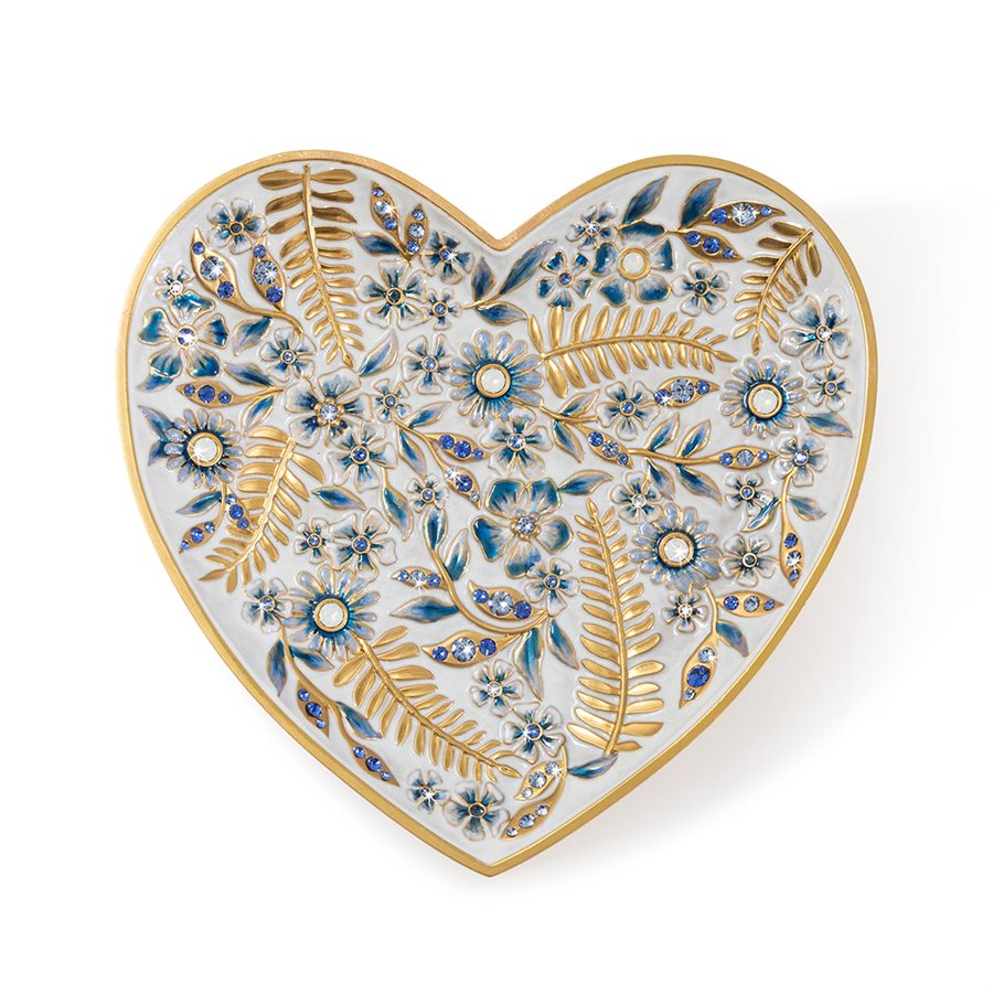 Jay Strongwater Aria Floral Heart Trinket Tray SDH6610-284
