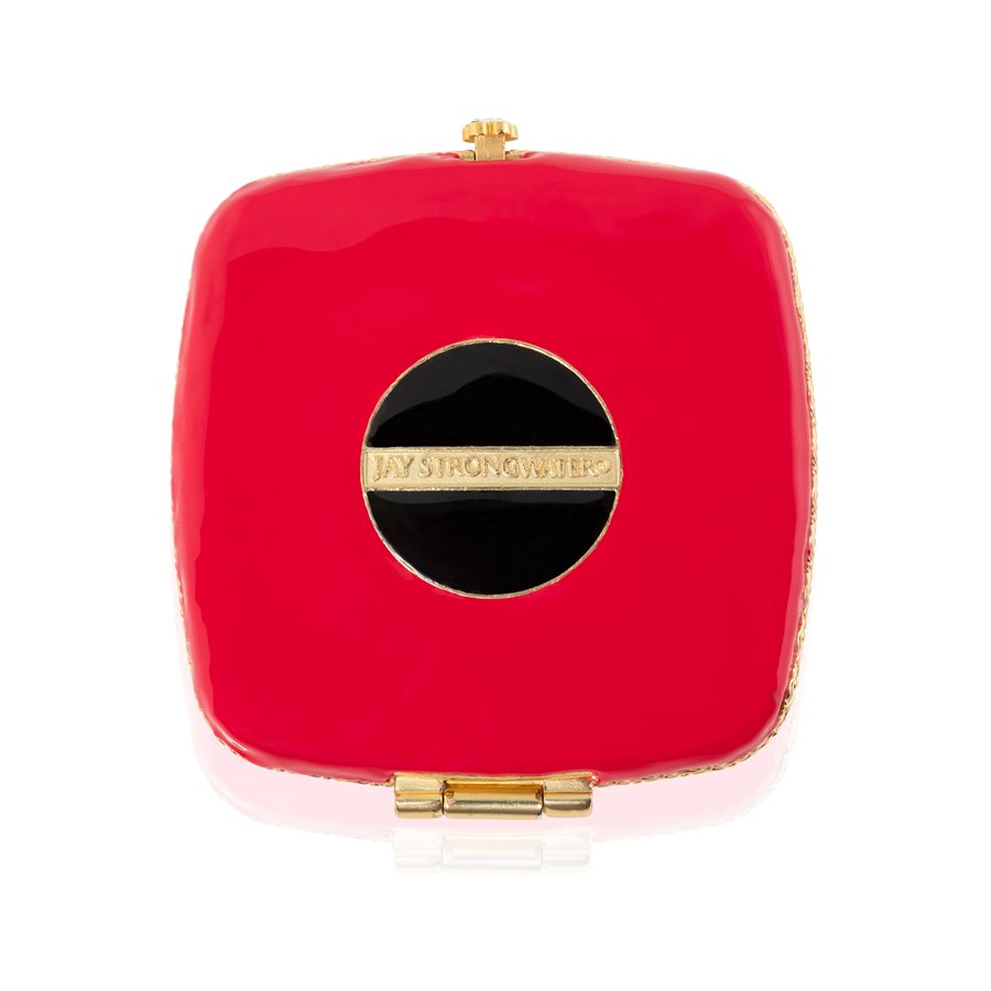 Jay Strongwater Bette Eye Compact Mirror SCB8077-202 Brass with 14K gold finish