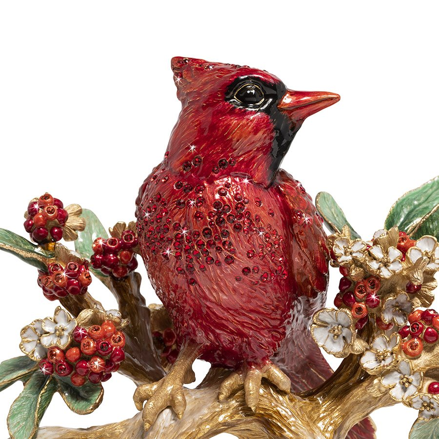 Jay Strongwater Cardinal On Branch Figurine SDH1920-280