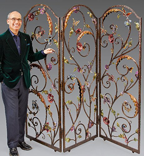 Jay Strongwater Celeste Floral Wall Screen SHW3255-450