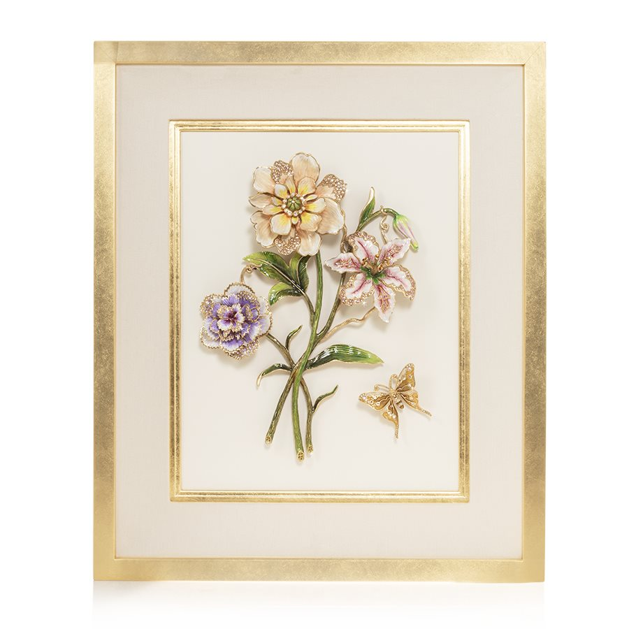 Jay Strongwater Georgia Bouquet Wall Art SHW3301-256
