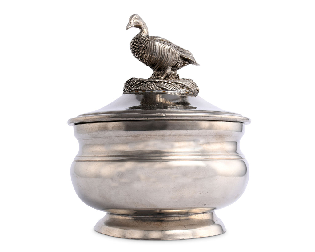 Vagabond House Morning Hunt Pewter Duck Sauce Bowl K106D